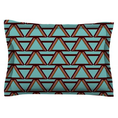 Deco Angels Choco Mint by Nina May Featherweight Pillow Sham Size: Queen, Fabric: Cotton