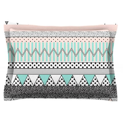Chevron Motif by Vasare Nar Featherweight Pillow Sham Size: Queen, Fabric: Cotton
