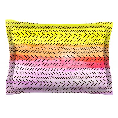 Sunshine by Sreetama Ray Featherweight Pillow Sham Size: King, Fabric: Cotton