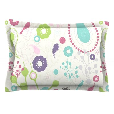 Bird Song by Nicole Ketchum Featherweight Pillow Sham Size: King, Fabric: Cotton