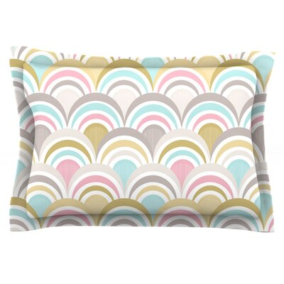 Art Deco Delight by Nicole Ketchum Featherweight Pillow Sham Size: Queen
