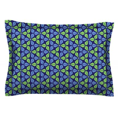 Infinite Flowers by Nick Atkinson Featherweight Pillow Sham Size: King, Color: Red
