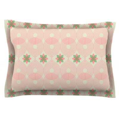 Deepti Munshaw Woven Pillow Sham Color: Beige/Green, Size: King