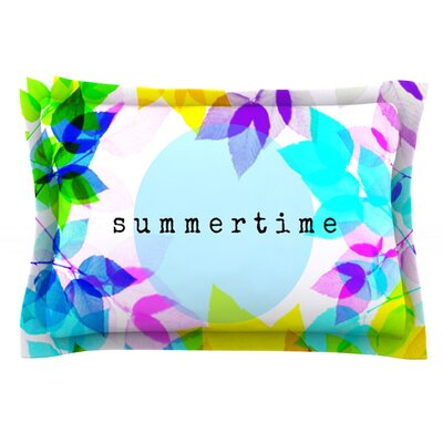 Seasons Summer by Sreetama Ray Featherweight Pillow Sham Size: Queen, Fabric: Cotton