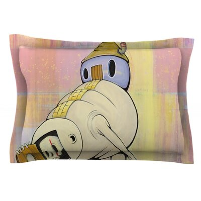 Good Day by Matthew Reid Featherweight Pillow Sham Size: King, Fabric: Cotton