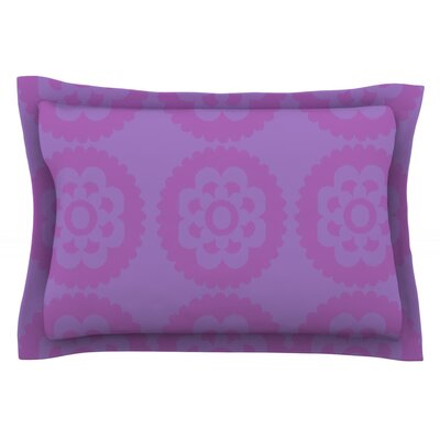 Moroccan Lilac by Nicole Ketchum Featherweight Pillow Sham Size: Queen