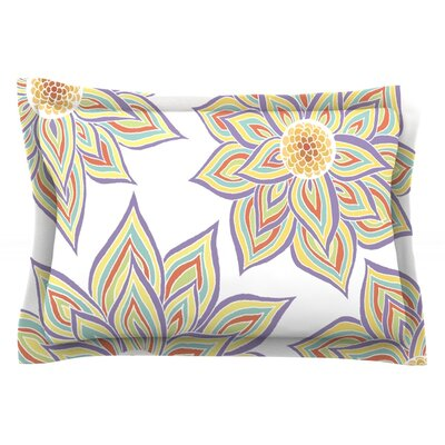 Floral Rhythm by Pom Graphic Design Featherweight Pillow Sham Size: Queen