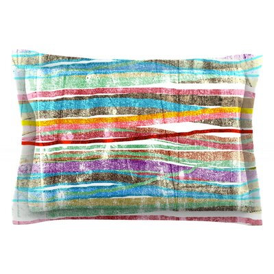 Fancy Stripes by Frederic Levy-Hadida Featherweight Pillow Sham Size: Queen, Color: Light