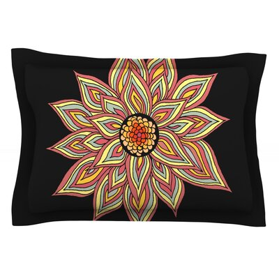 Incandescent Flower by Pom Graphic Design Featherweight Pillow Sham Size: Queen, Fabric: Cotton