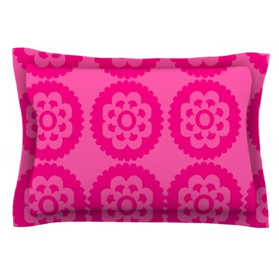 Moroccan Hot Pink by Nicole Ketchum Featherweight Pillow Sham Size: King, Fabric: Cotton