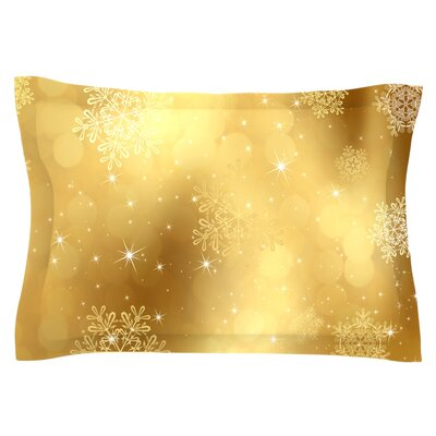 Golden Radiance by Snap Studio Featherweight Pillow Sham Size: King, Fabric: Cotton