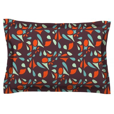 Retro Tile by Miranda Mol Featherweight Pillow Sham Size: King, Fabric: Cotton