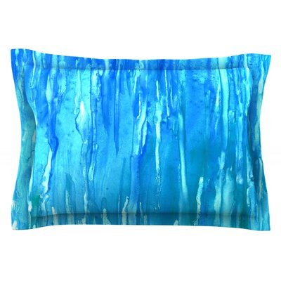 Wet & Wild by Rosie Brown Featherweight Pillow Sham Size: Queen, Fabric: Cotton