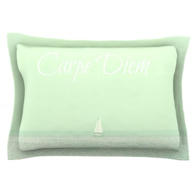 Carpe Diem by Robin Dickinson Featherweight Pillow Sham Size: King, Fabric: Cotton
