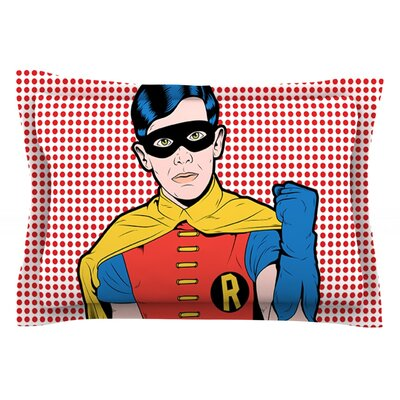 The Boy Wonder Pop by Roberlan Featherweight Pillow Sham Size: Queen, Fabric: Cotton