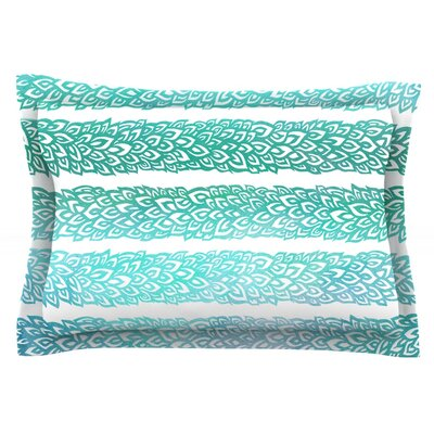Leafs from Paradise II by Pom Graphic Design Featherweight Pillow Sham Size: Queen, Fabric: Cotton
