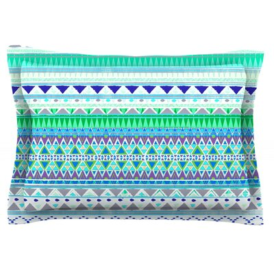 Emerald Chenoa by Nika Martinez Featherweight Pillow Sham Size: King, Fabric: Cotton