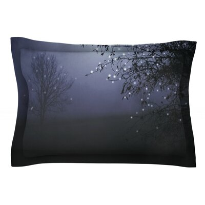 Song of the Nightbird by Monika Strigel Featherweight Pillow Sham Size: Queen, Fabric: Cotton