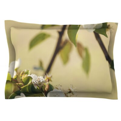 Pear Blossom by Catherine McDonald Featherweight Pillow Sham Size: King, Fabric: Cotton