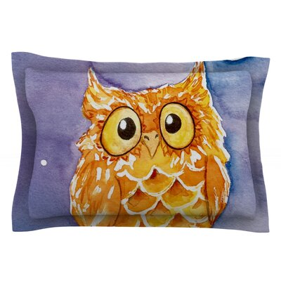 Little Hoot by Padgett Mason Featherweight Pillow Sham Size: King, Fabric: Cotton