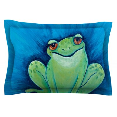 Ribbit Ribbit by Padgett Mason Featherweight Pillow Sham Size: Queen, Fabric: Cotton