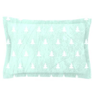 Pine by Snap Studio Featherweight Pillow Sham Size: King, Color: Aqua