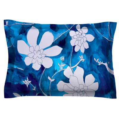 Succulent Dance 1 by Theresa Giolzetti Featherweight Pillow Sham Size: Queen, Fabric: Cotton