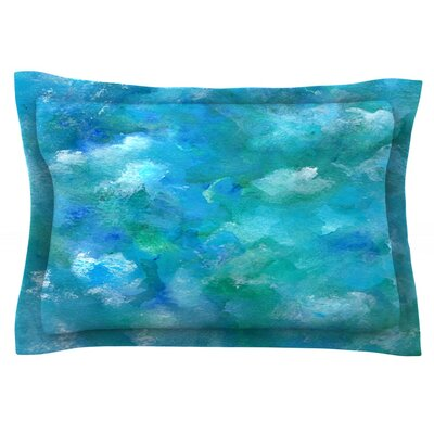 Ocean Waters by Rosie Brown Featherweight Pillow Sham Size: Queen, Fabric: Cotton