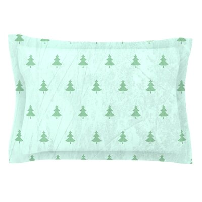 Pine by Snap Studio Featherweight Pillow Sham Size: King, Color: Green