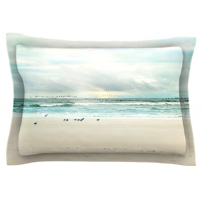 Flight by Sylvia Cook Featherweight Pillow Sham Size: Queen, Fabric: Cotton