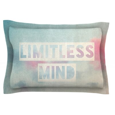 Limitless Mind by Ingrid Beddoes Featherweight Pillow Sham Size: King, Fabric: Cotton