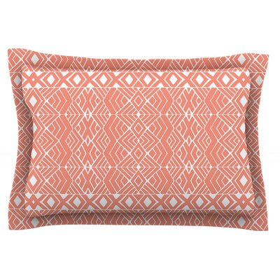 Aztec Roots by Pom Graphic Design Featherweight Pillow Sham Size: Queen, Fabric: Cotton