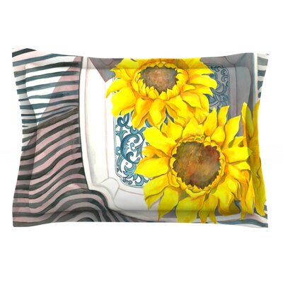 Finall Sunflower by S. Seema Z Featherweight Pillow Sham Size: Queen, Fabric: Cotton