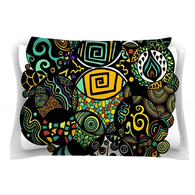Multicolor Life by Pom Graphic Design Featherweight Pillow Sham Size: Queen, Fabric: Cotton