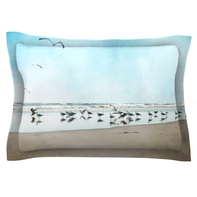 Sea Blue by Sylvia Cook Featherweight Pillow Sham Size: King, Fabric: Cotton