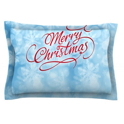 Merry Christmas by Snap Studio Featherweight Pillow Sham Size: Queen, Fabric: Cotton