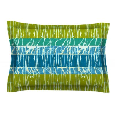 Ocean Splatter by Nina May Featherweight Pillow Sham Size: Queen, Fabric: Cotton