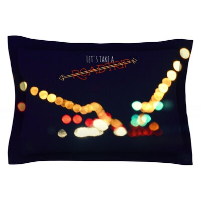 Road Trip by Robin Dickinson Featherweight Pillow Sham Size: King, Fabric: Cotton