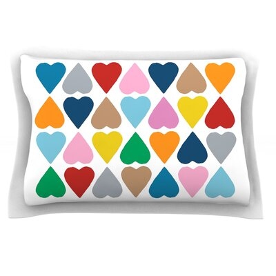 Diamond Hearts by Project M Featherweight Pillow Sham Size: Queen, Fabric: Cotton