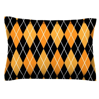 Argyle Woven Pillow Sham Size: King, Color: Black