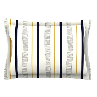 Textured Stripes by Laurie Baars Featherweight Pillow Sham Size: Queen, Fabric: Cotton