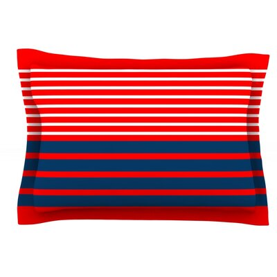 Nauticki Red by Trebam Featherweight Pillow Sham Size: Queen, Fabric: Cotton