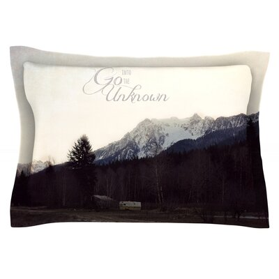 Go Into the Unknown by Robin Dickinson Featherweight Pillow Sham Size: King, Fabric: Cotton