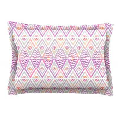 Soft Petal Tribal by Pom Graphic Design Featherweight Pillow Sham Size: Queen, Fabric: Cotton