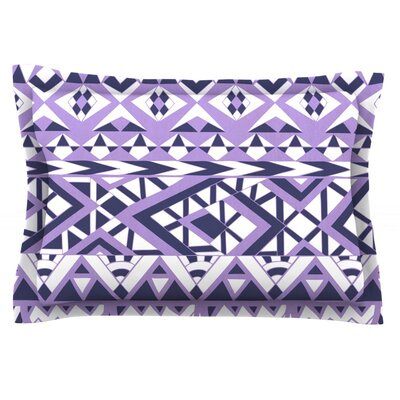 Tribal Simplicity II by Pom Graphic Design Featherweight Pillow Sham Size: Queen, Fabric: Cotton