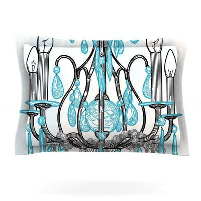 Chandelier by Sam Posnick Featherweight Pillow Sham Size: King, Fabric: Cotton