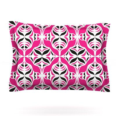 Think Pink by Miranda Mol Featherweight Pillow Sham Size: King, Fabric: Cotton