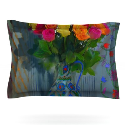 Spring Bouquet by S. Seema Z Featherweight Pillow Sham Size: King, Fabric: Cotton