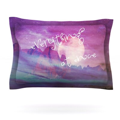 Everything at Once by Monika Strigel Featherweight Pillow Sham Size: King, Fabric: Cotton