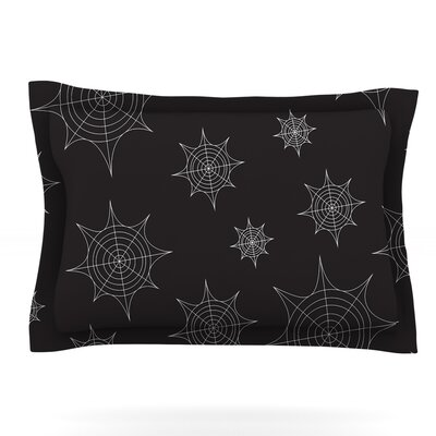 Mini Webs Featherweight Pillow Sham Size: Queen, Color: Black